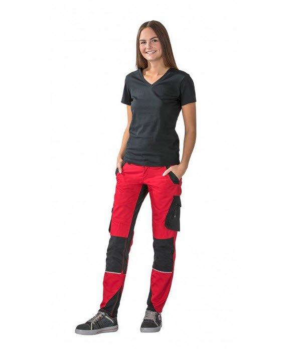 Planam Norit dames werkbroek (6410) rood dames