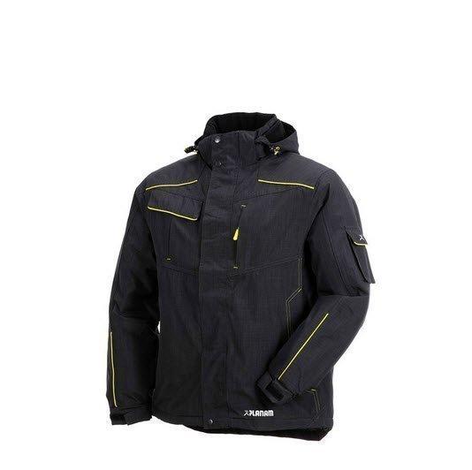Planam Outdoor Neon winterjas (3394) zwart b