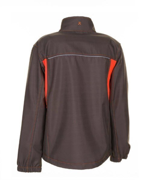 Planam Basalt Neon softshell (6290) olijf-oranje 3