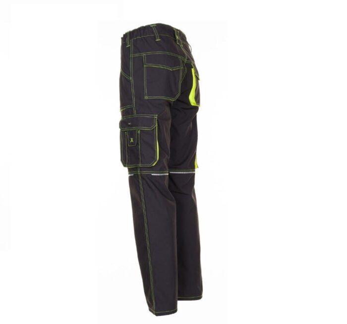 Planam Basalt Neon werkbroek (6220) antraciet-geel 2