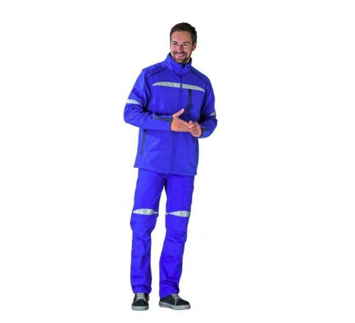 Planam Durawork softshell jack (2950) korenblauw 4
