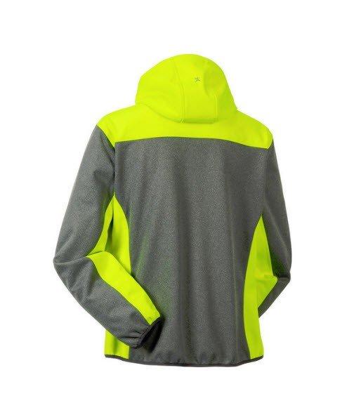 Planam Outdoor Contrast Softshell jas 37 geel 1