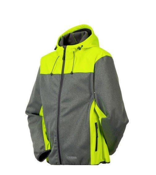 Planam Outdoor Contrast Softshell jas 37 geel 2