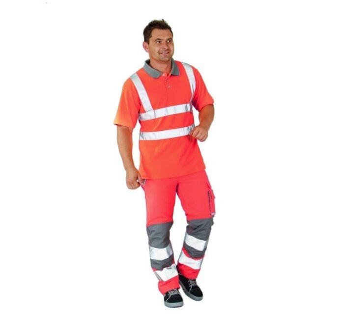 Planam Plaline H-vis werkbroek (5610) oranje 2