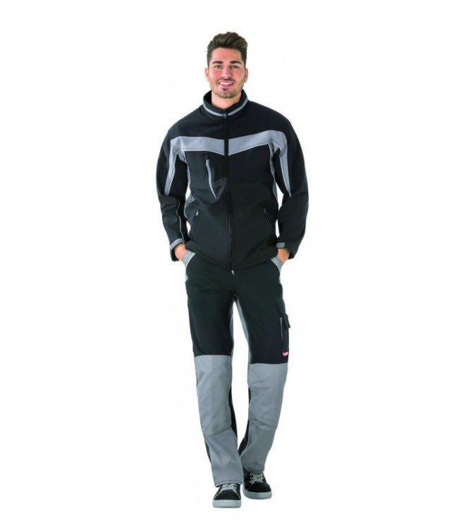 Planam Plaline softshell jas (2700) zwart-grijs 1