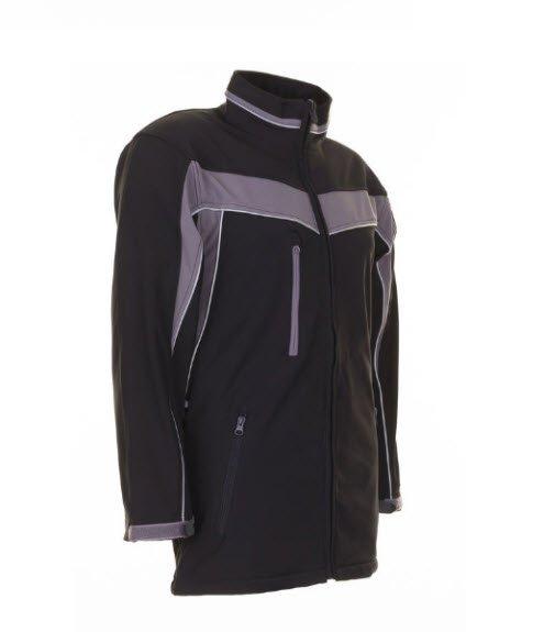 Planam Plaline softshell jas (2700) zwart-grijs 2