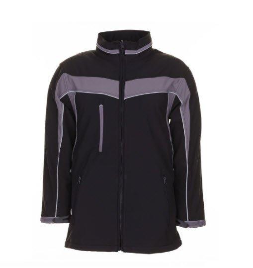 Planam Plaline softshell jas (2700) zwart-grijs