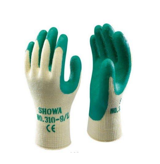 Showa 310 Latex werkhandschoen Groen