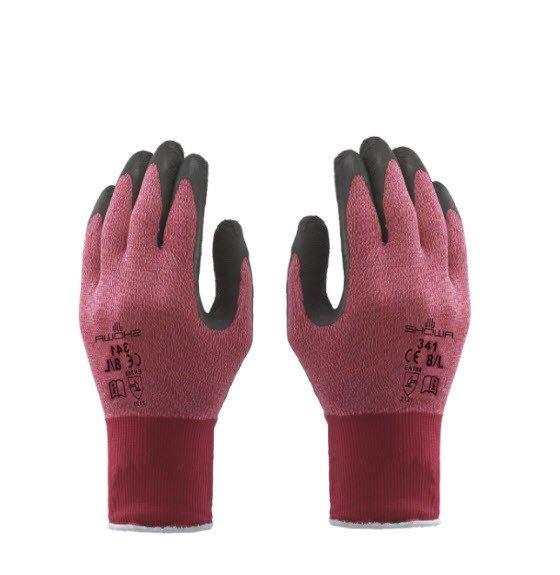 Showa 341 Latex werkhandschoen rood