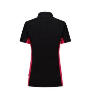 Tricorp Dames Poloshirt Bicolor 2003 zwart-rood 1