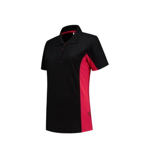 Tricorp Dames Poloshirt Bicolor 2003 zwart-rood
