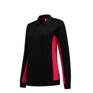 Tricorp Dames Polosweater Bicolor 2002 zwart-rood