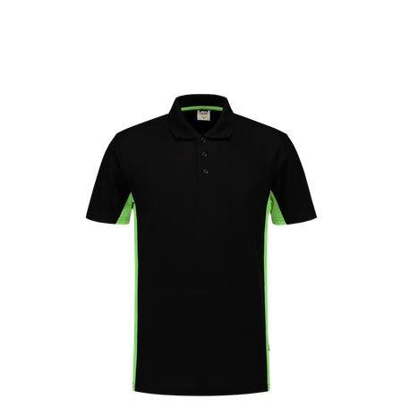 Tricorp Poloshirt Bicolor 2004 zwart-groen 3