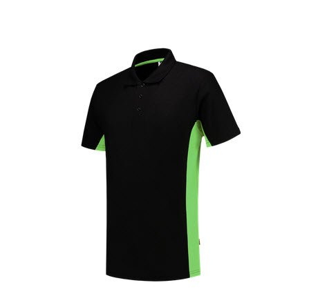 Tricorp Poloshirt Bicolor 2004 zwart-groen