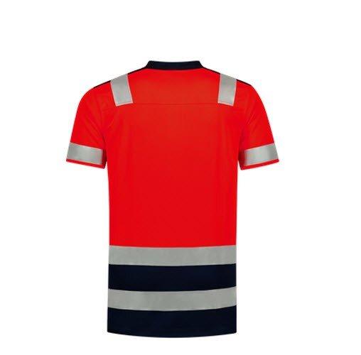 Tricorp Poloshirt Bicolor High Vis 180gr - 3007 rood 1