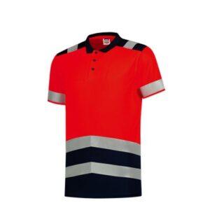 Tricorp Poloshirt Bicolor High Vis 180gr - 3007 rood