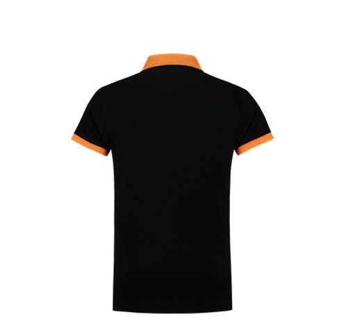 Tricorp Poloshirt Bicolor SlimFit PBF210 zwart-oranje 1