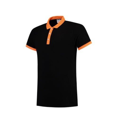 Tricorp Poloshirt Bicolor SlimFit PBF210 zwart-oranje