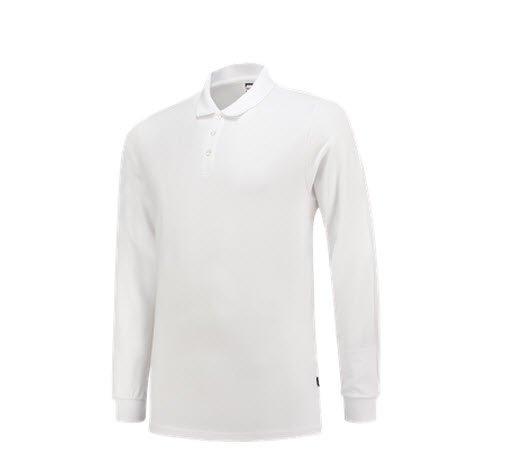 Tricorp Poloshirt SlimFit 210gr - Lange mouw 1017 wit