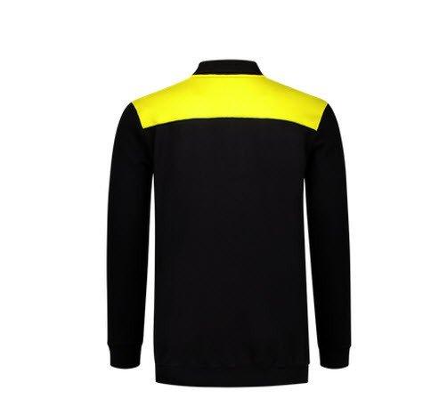 Tricorp Polosweater Bicolor Naden 2004 zwart-geel 1
