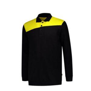 Tricorp Polosweater Bicolor Naden 2004 zwart-geel