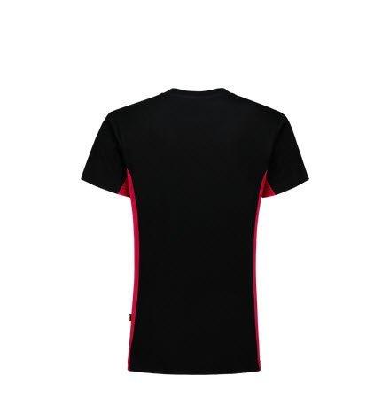 Tricorp T-shirt Bicolor 2004 zwart-rood 1