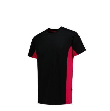 Tricorp T-shirt Bicolor 2004 zwart-rood 4