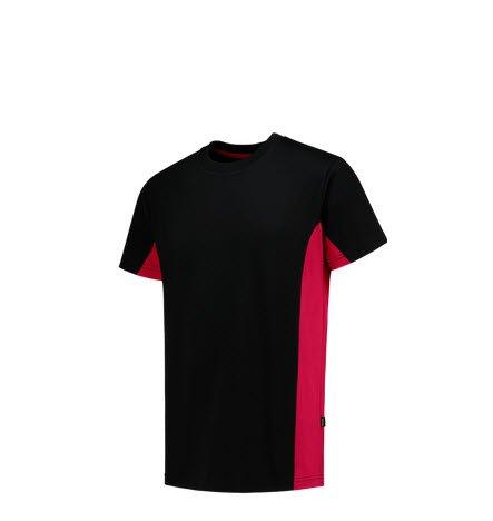 Tricorp T-shirt Bicolor 2004 zwart-rood