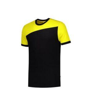 Tricorp T-shirt Bicolor Naden 2006 zwart-geel 1