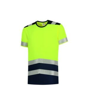Tricorp T-shirt bicolor High Vis - 180gram 3006 geel