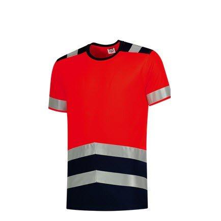 Tricorp T-shirt bicolor High Vis - 180gram 3006 rood