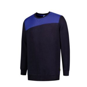 Tricorp Sweater Bicolor Naden 201 marine-blauw