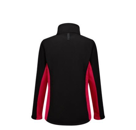 Tricorp softshell Bicolor Dames 2008 zwart-rood 1