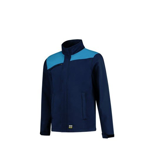 Tricorp softshell Bicolor Naden 2021 marine-turqouise