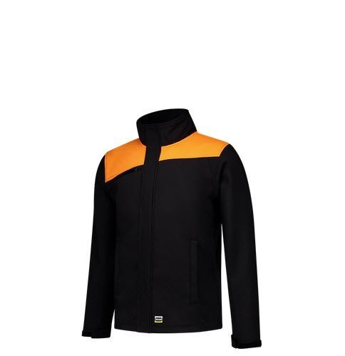 Tricorp softshell Bicolor Naden 2021 zwart-oranje