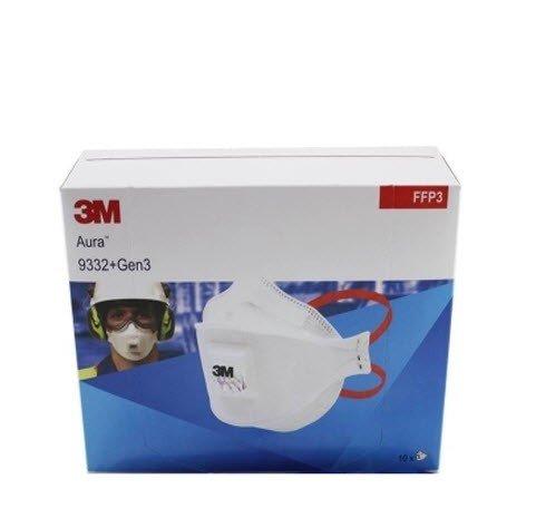3M Aura 9332+ Stofmasker FFP3 met fentiel 2