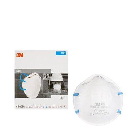 3M Stofmasker FFP2 zonder ventiel - 8810