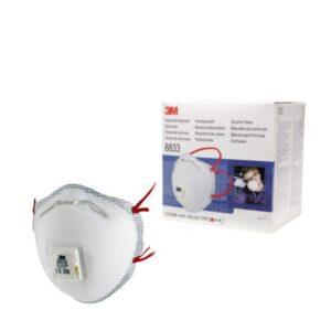 3M Stofmasker FFP3 met ventiel - 8833