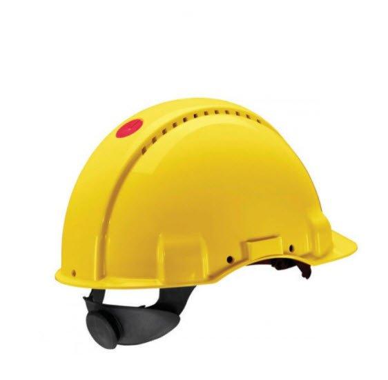3M Veiligheidshelm met draaiknop G3000 geel