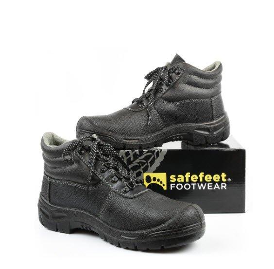 SafeFeet Pisa S3 werkschoen zwart