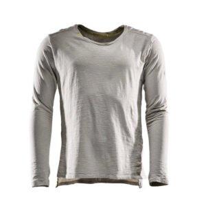 Monitor comfort Tee-shirt Lange mouw grijs