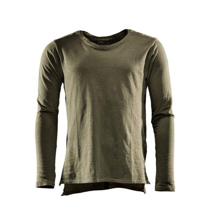 Monitor comfort Tee-shirt Lange mouw olijf