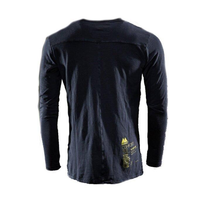 Monitor comfort Tee-shirt Lange mouw zwart 2