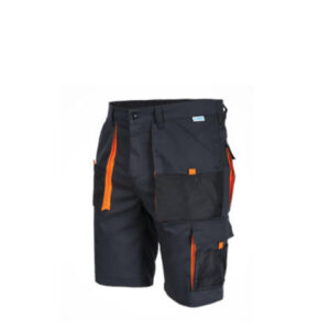 SaraTex King Korte werkbroek Grijs (11-011) oranje