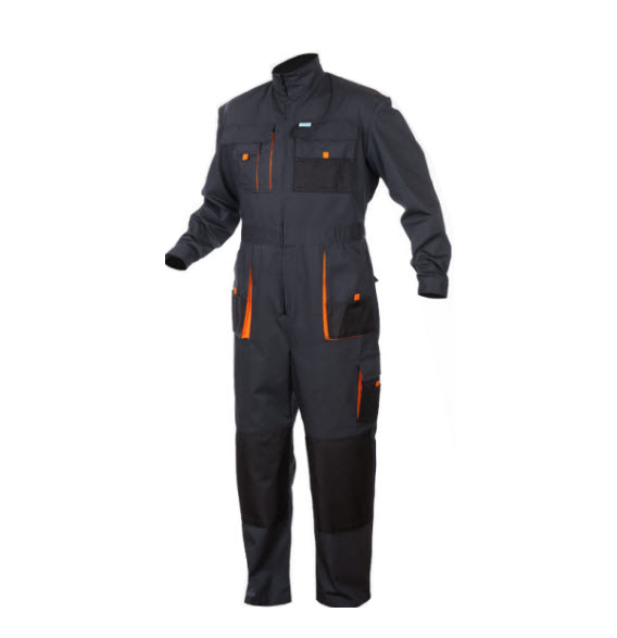 SaraTex King Overall Grijs (12-911) oranje
