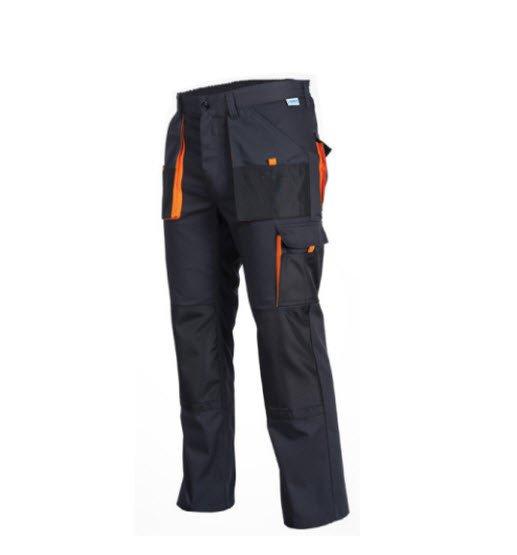 SaraTex King werkbroek Grijs (11-511) Oranje