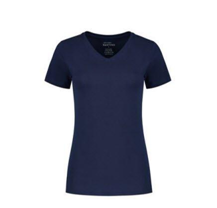Santino Jazz Dames T-shirt Korte mouwen - V hals marine