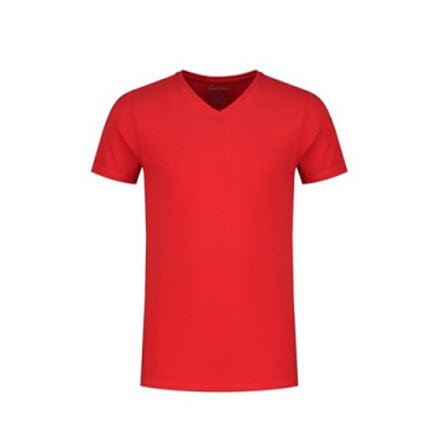 Santino Jazz T-shirt Korte mouwen - V hals rood