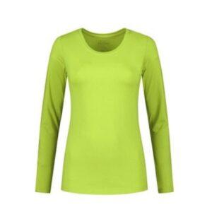 Santino Juna Dames T-shirt Lange mouwen limegroen