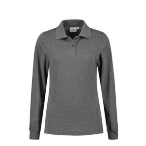 Santino Matt Dames Polo-shirt lange mouwen D grijs